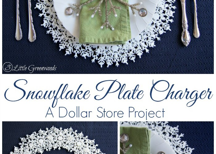 Snowflake Plate Charger {My Crafty Spot}