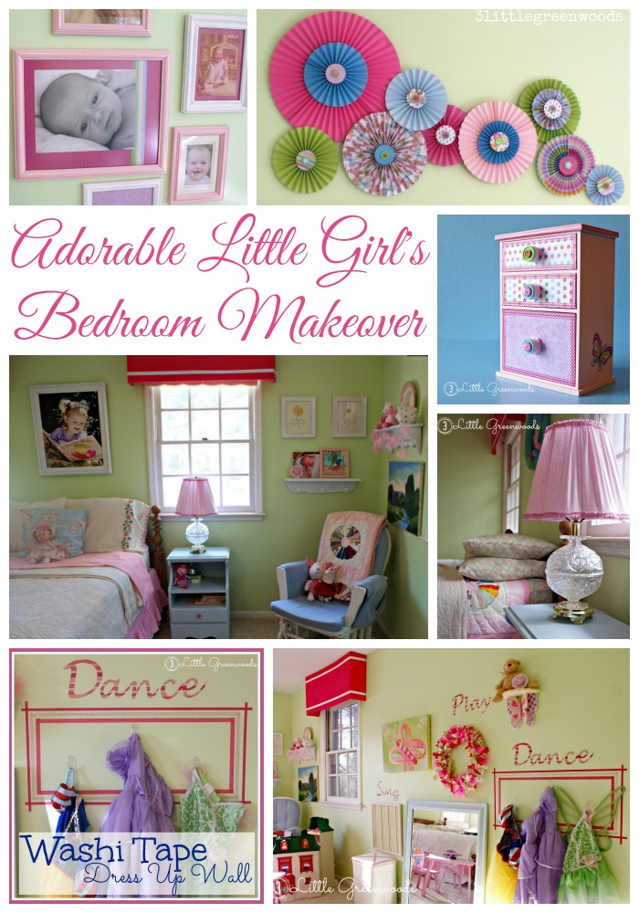 Adorable Little Girl's Bedroom Makeover