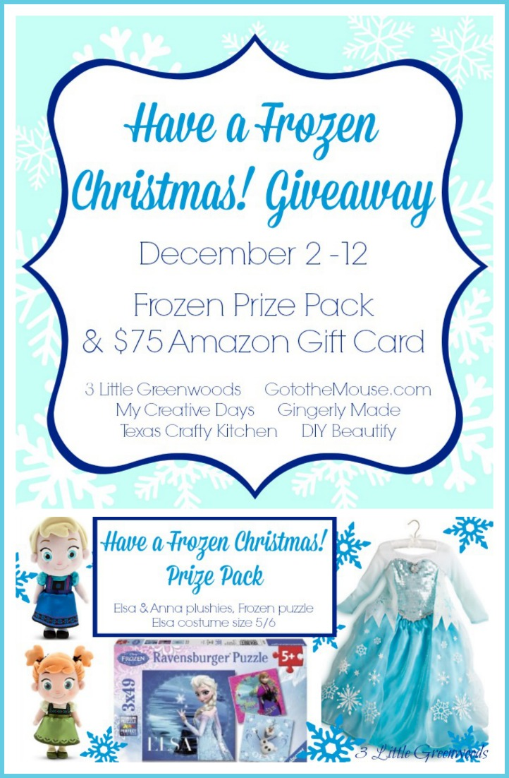 Have a Frozen Christmas Giveaway by 3 Little Greenwoods http://www.3littlegreenwoods.com