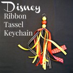 DIY Disney Keychain with Ribbon Tassel