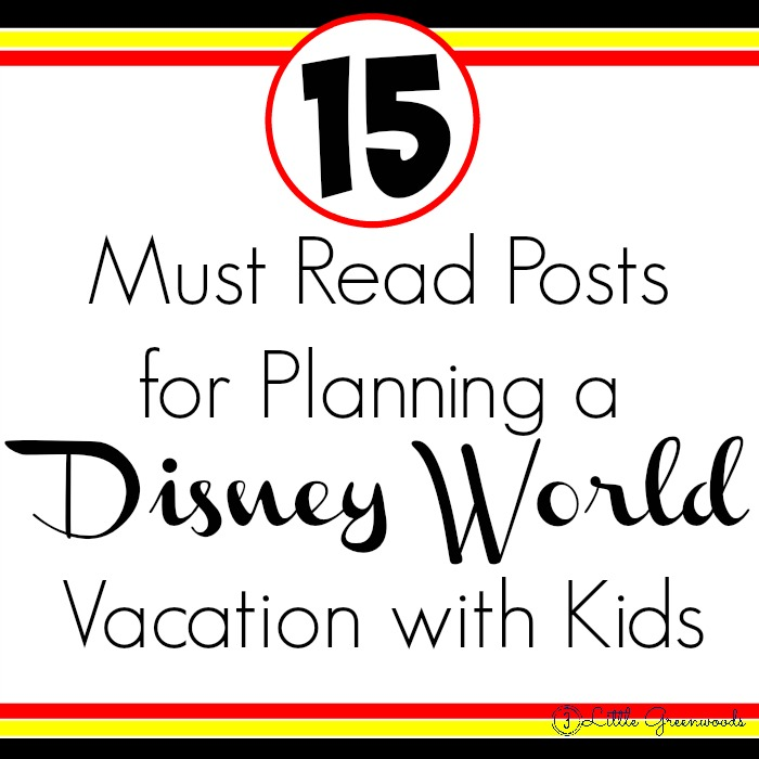 15 Must Read Posts for Planning a Disney World Vacation with Kids http://www.3littlegreenwoods.com