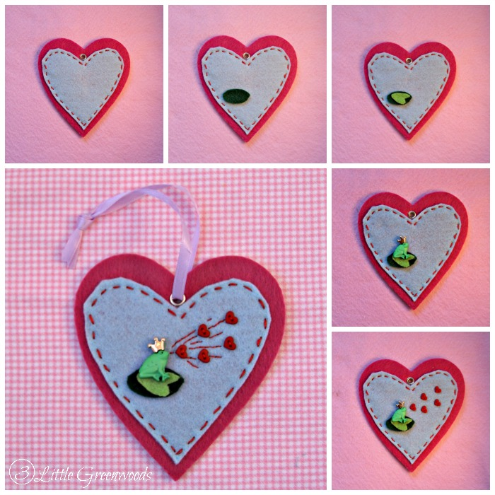 DIY Felt Frog Prince Ornaments For Valentineu0027s Day ~ Guest Post By 3 Little  Greenwoods