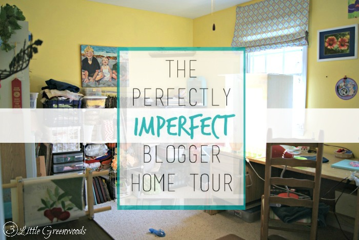 The Perfectly Imperfect Blogger Home Tour: My Disaster of a Craft Room http://www.3littlegreenwoods.com
