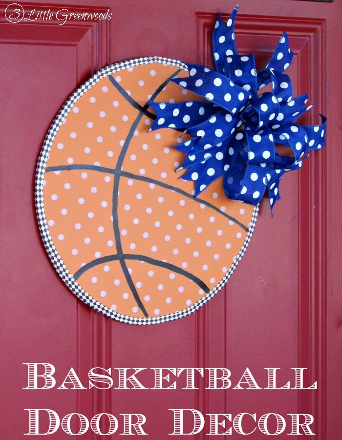 Slam Dunk Basketball Door Decor