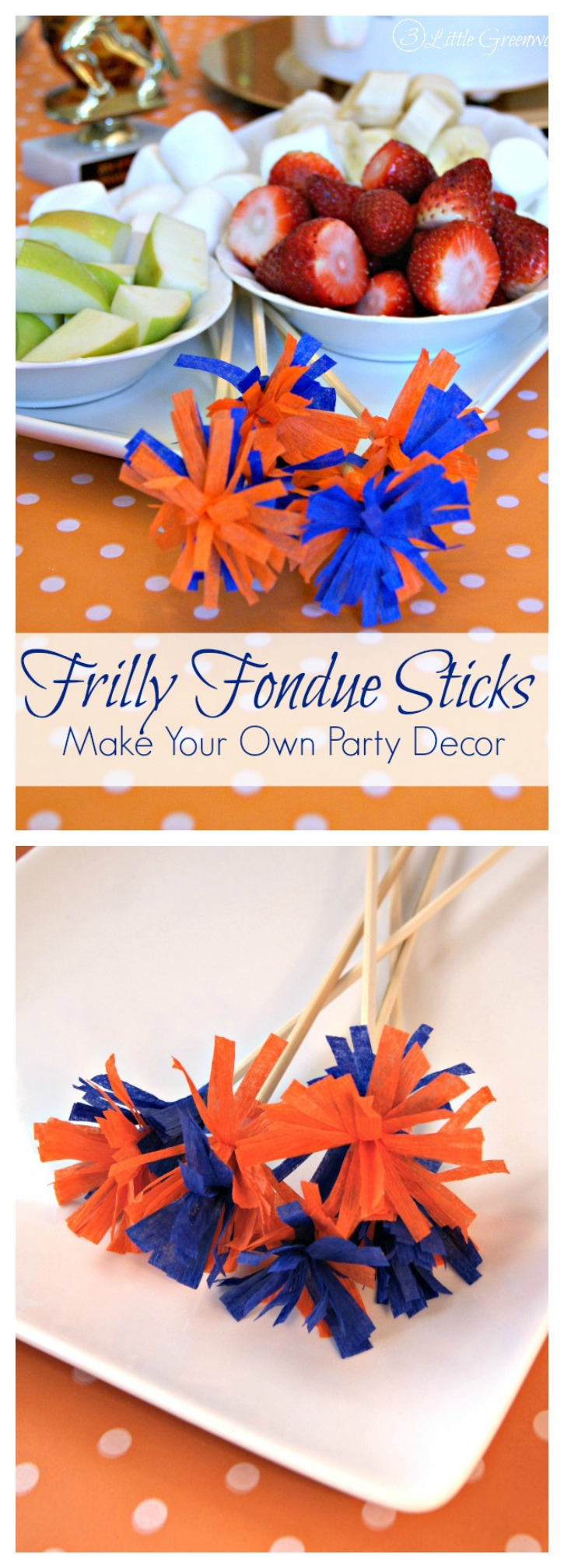DIY Fondue Sticks ~ A Perfect Way to Add Fun to Your Next Party! Put these on your party planning checklist! // 3 Little Greenwoods