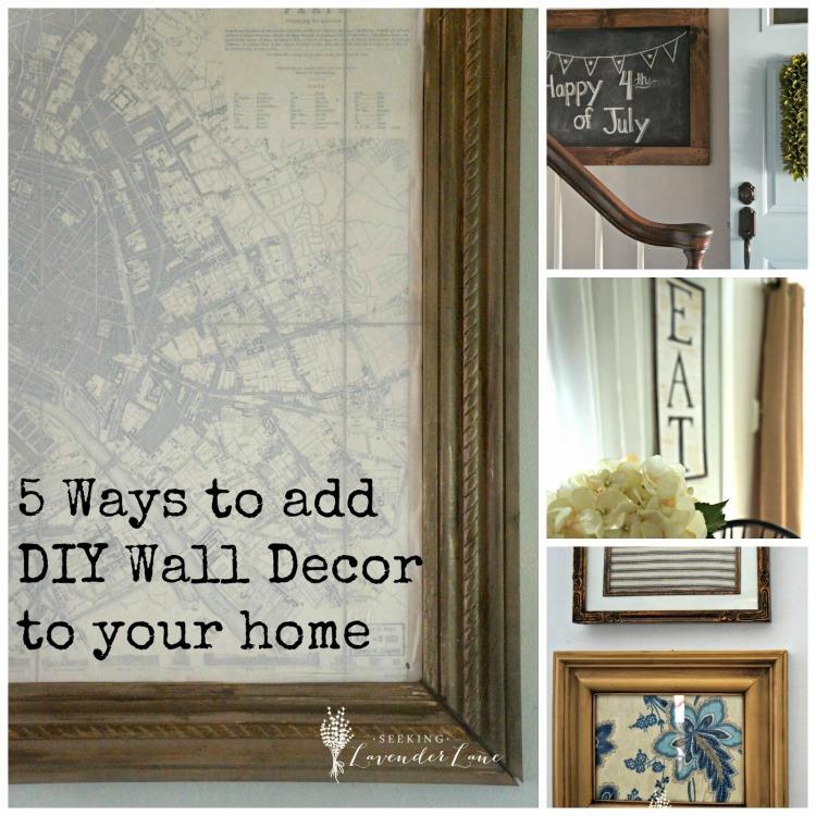 5 Ways to add DIY Decor