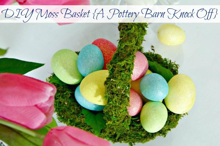 DIY Moss Basket {A Pottery Barn Knock Off}