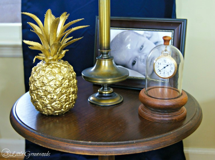 DIY Brass Pineapple! Turn a thrift store find into a symbol of southern hospitality! http://www.3littlegreenwoods.com