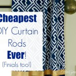 Cheapest DIY Curtain Rods Ever {Finials too}!