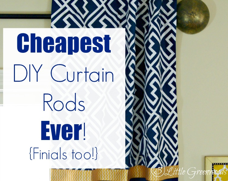 Curtain Rods cheapest place to buy curtain rods : DIY Curtain Rods Ever {Finials too}!