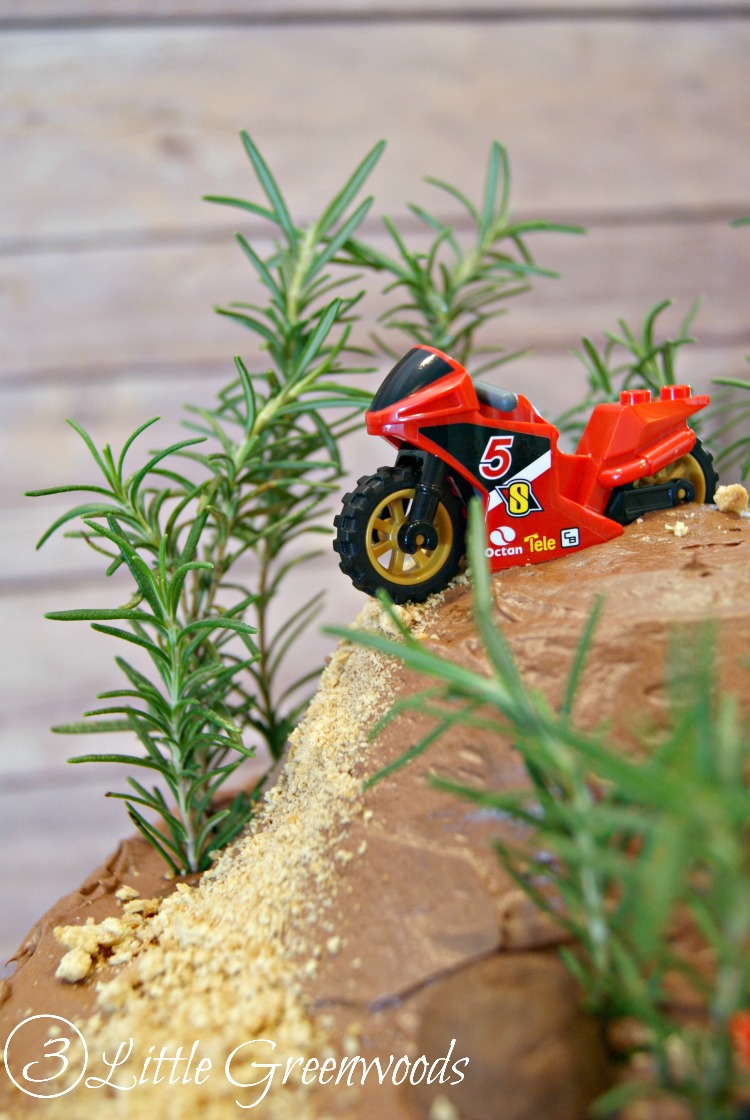 MUST Pin for Dirt Bike Birthday Party Ideas: Make a DIY Dirt Bike Birthday Cake by 3 Little Greenwoods