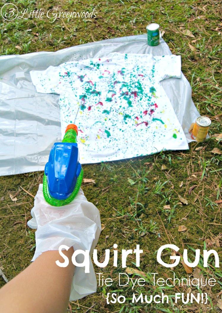 Squirt Gun Tie Dye Technique