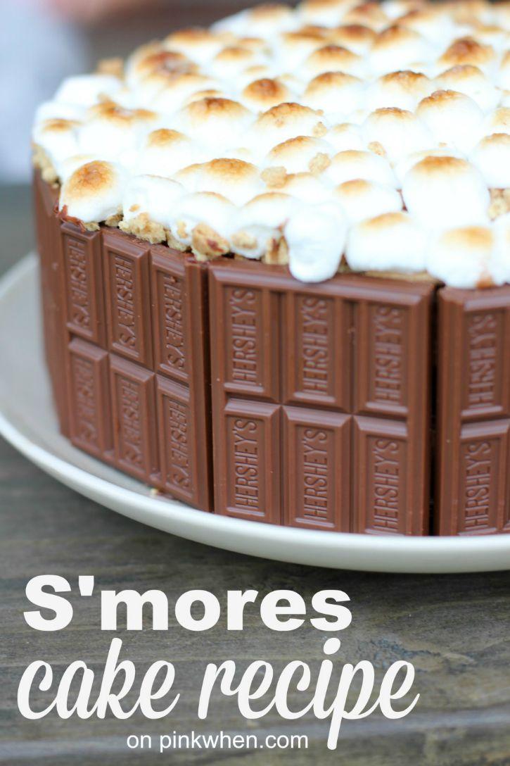 Smores-Cake-Recipe-@PinkWhen