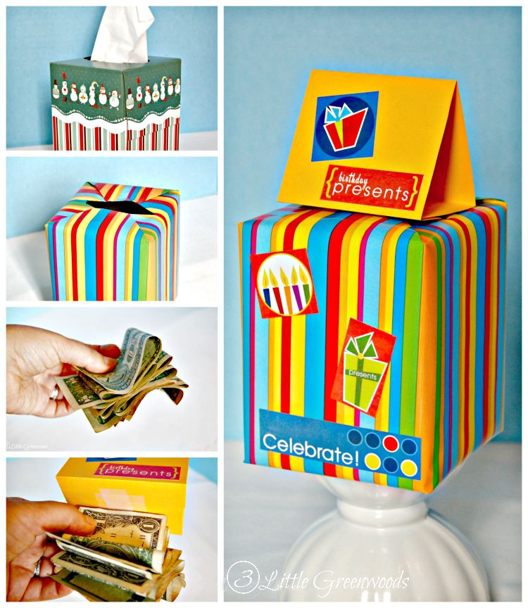 Diy birthday gift fun money gift box for Last minute diy birthday gifts for dad