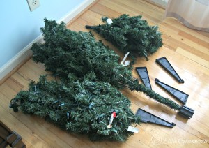 how to make an artificial christmas tree look fuller