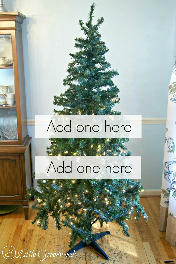 must pin trick for making a fake tree look fuller dont buy a - Decorated Artificial Christmas Trees