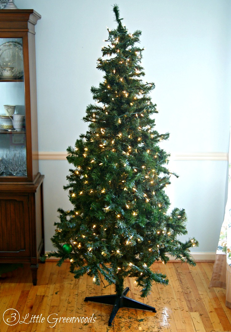 Update a Fake Christmas Tree for Less Than $10 by 3 Little Greenwoods