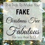 Update a Fake Christmas Tree for Less Than $10