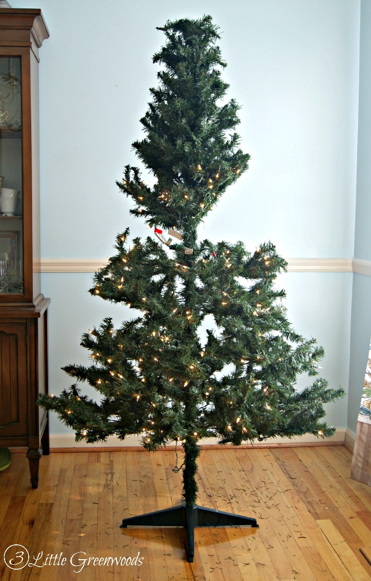 Update a Fake Christmas Tree for Less Than $10 by 3 Little