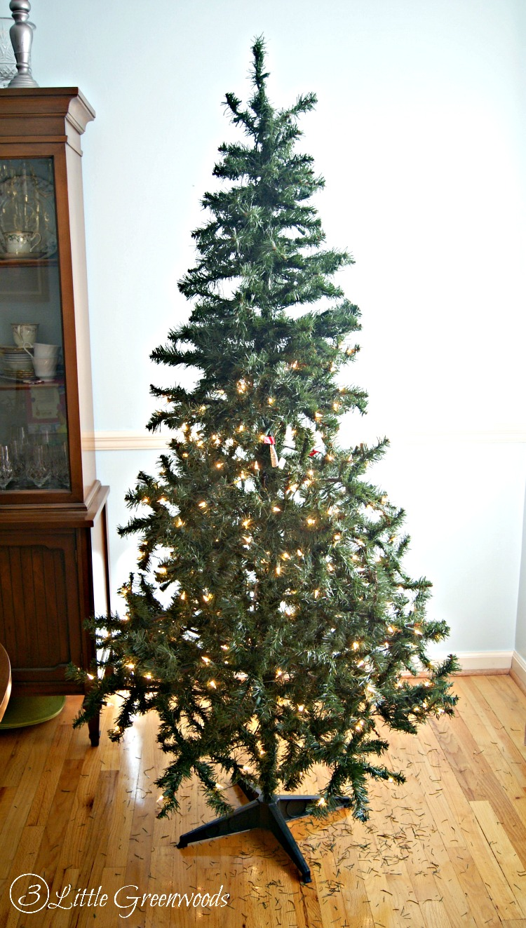must pin trick for making a fake tree look fuller dont buy a - Rustic Christmas Tree Decorations For Sale