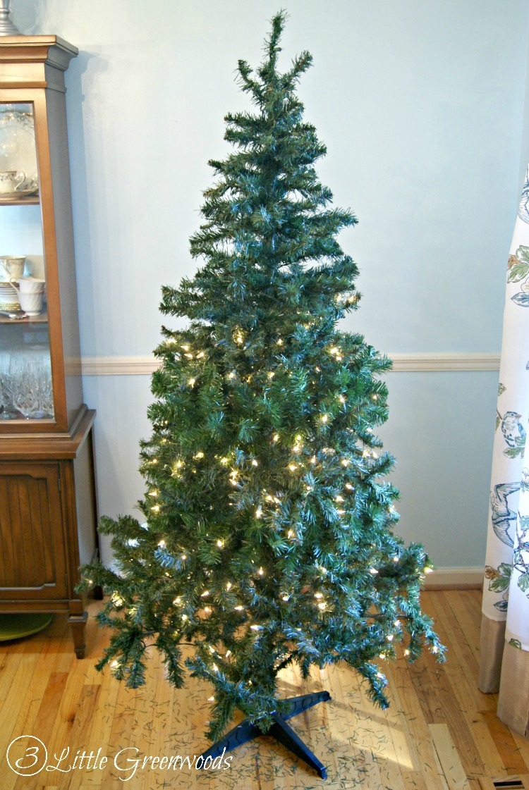 Update a fake christmas tree for less than 10 by 3 little greenwoods must pin trick for making a fake tree look fuller dont buy a publicscrutiny Image collections