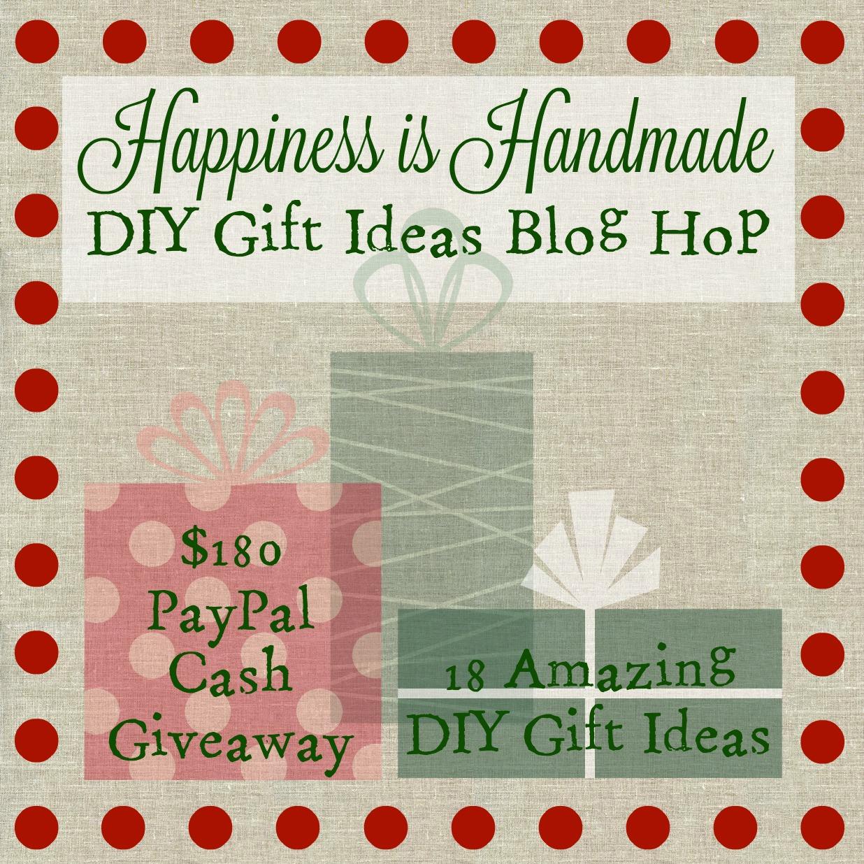 Happiness is Handmade DIY Gift Ideas Blog Hop 2015