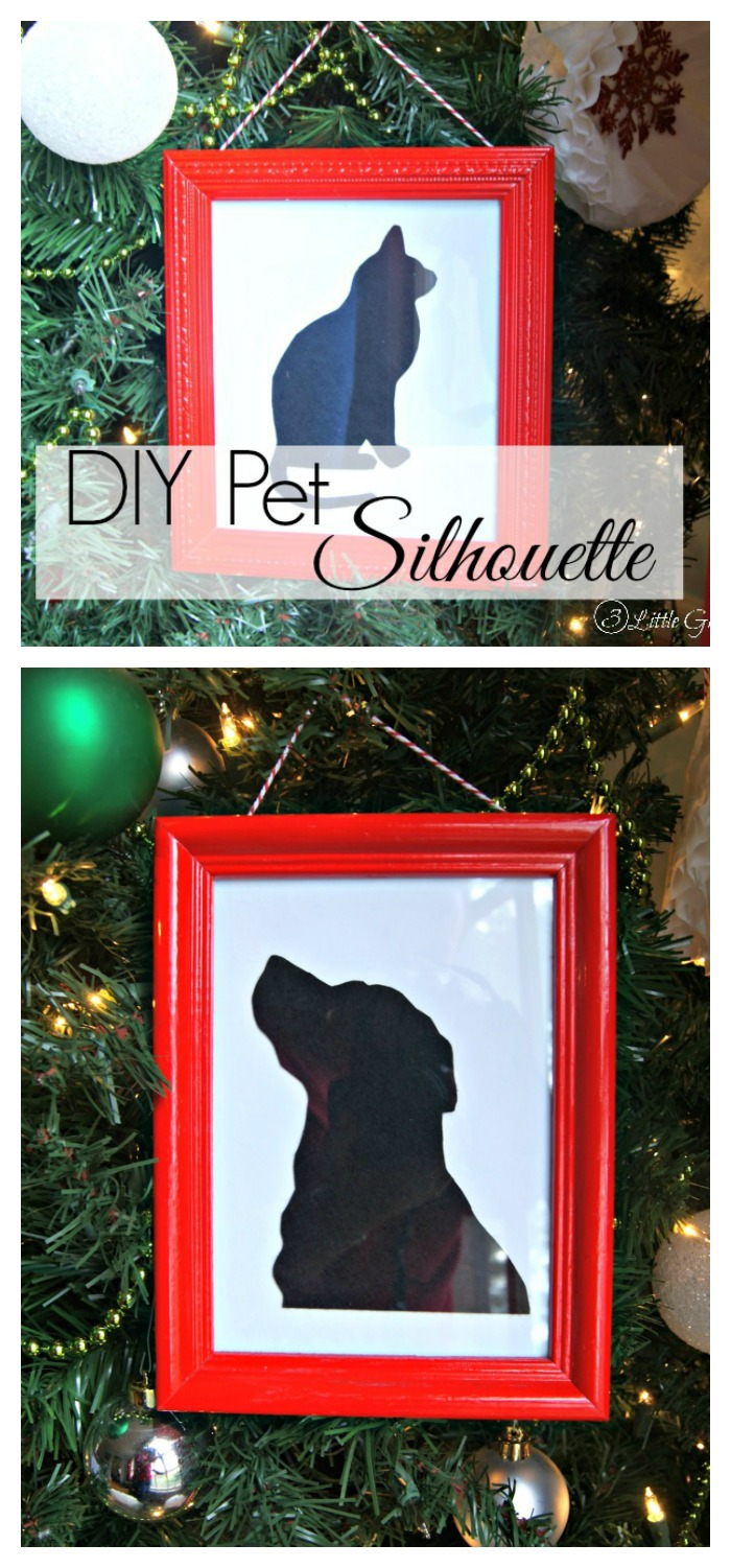 I am SO making this Pet Christmas Gift! What an adorable craft for DIY Pet Gifts for Christmas this year. My aunt will love it! Plus it's made from super easy to find craft supplies!
