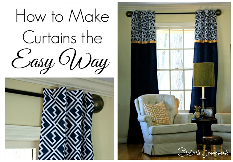 how to make curtains the easy way. Black Bedroom Furniture Sets. Home Design Ideas