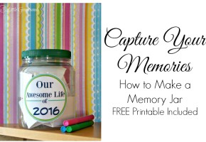 How to Make a Memory Jar ~ Capture Your Family Memories