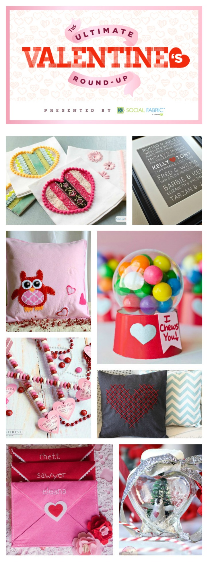 MUST PIN resource for the Ultimate Valentine's Round-Up! There's home decor, Valentine crafts, Valentine's Day wreaths, and romantic desserts to inspire your Valentine's Day!