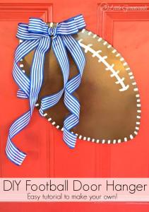 How To Make A Football Door Hanger