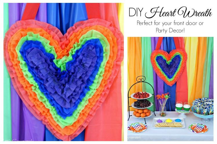 Valentine Door Decoration ~ Heart Shaped Door Hanger