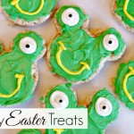 Easy Easter Treat ~ Frog Shaped Rice Crispy Treats