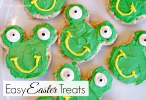 Easy Easter Treat ~ Frog Shaped Rice Crispy Treats