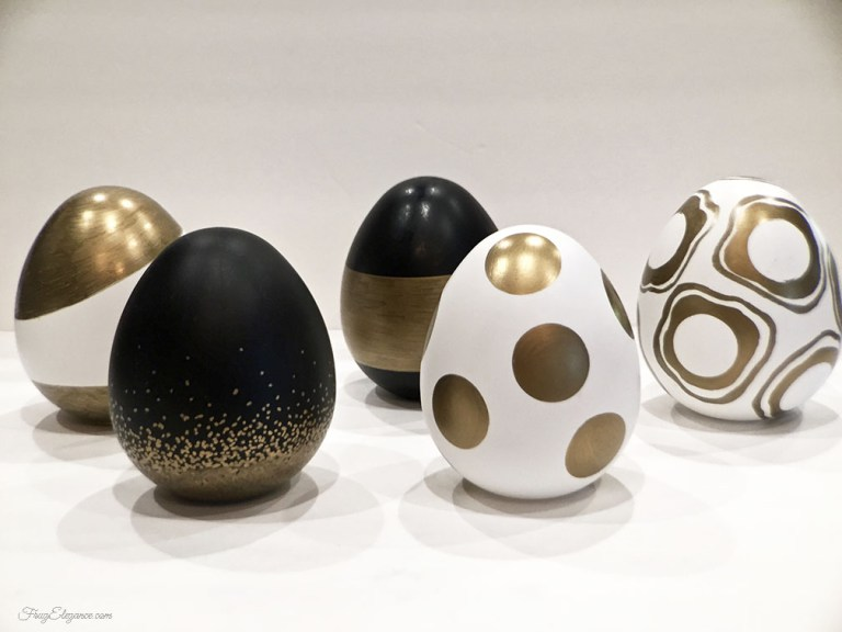 Easter Crafts: Black and Gold Easter Eggs