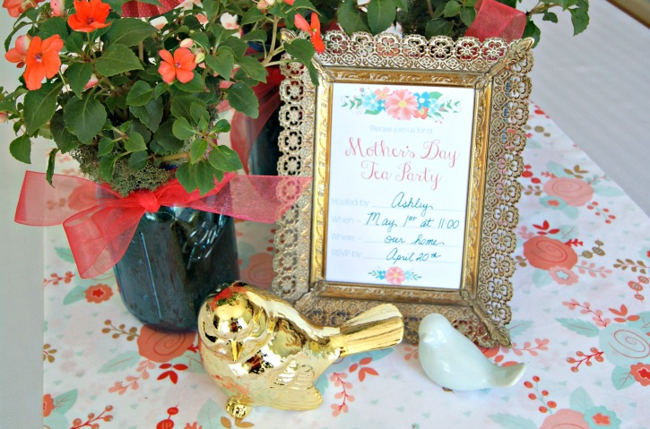 Looking for a great Mother's Day Idea? Host a Tea Party for your Mother! Start with these free tea party invites and flower cupcake toppers. They are a perfect way to welcome guests and I love the coral, blue, and yellow flowers!