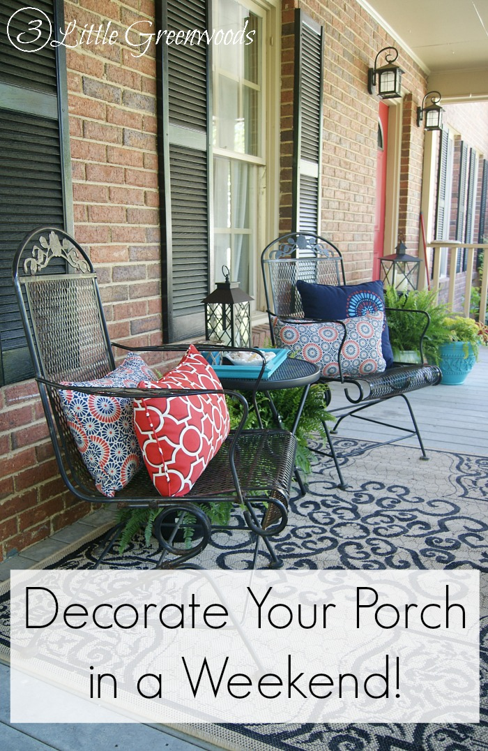 Front Porch Decorating Ideas for Summer & Front Porch Decorating Ideas for Summer - 3 Little Greenwoods