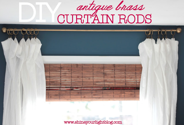 Antique Brass Curtain Rods from Shine Your Light