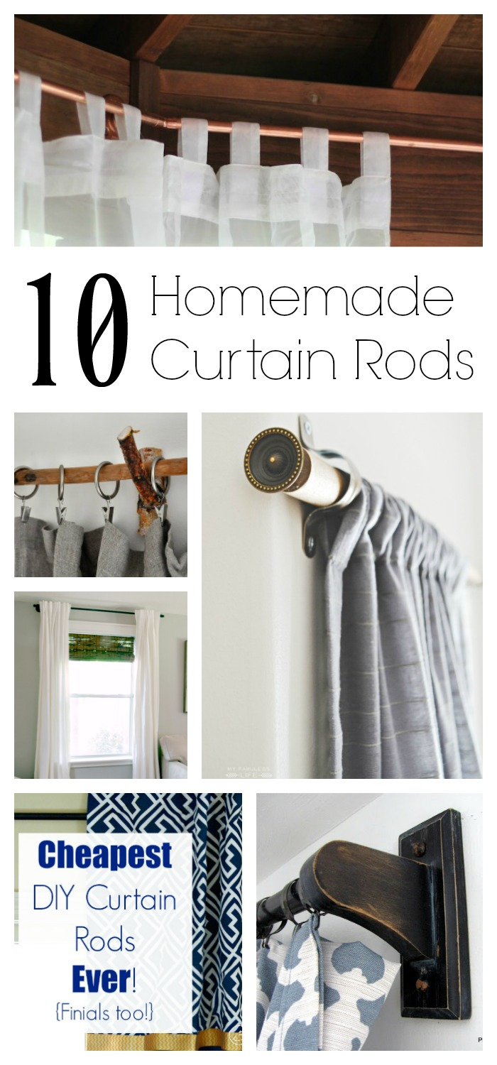 Oh YES you can! This list of Homemade Curtain Rods proves that you do not have to go into debt to decorate your home with lovely window treatments. These DIY Curtain Rods are all about thinking outside the box.