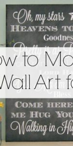 How to make LARGE wall art from supplies you can find at the Dollar Store and Engineer Prints! This is a DIY home decorating project anyone can do.
