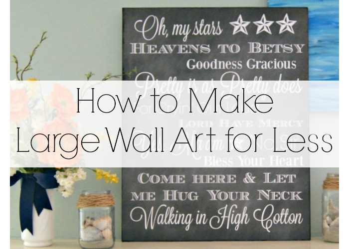 How to make large wall art for less Decorate a large wall cheaply