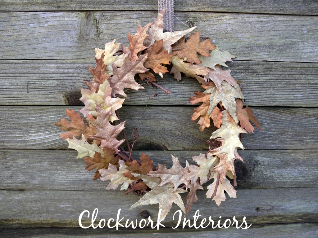Metallic Autumn Wreath from Clockwork Interiors