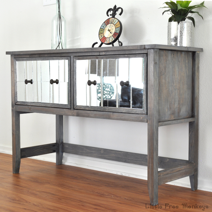 DIY Mirrored Console Table for under $150! from Anika's DIY Life
