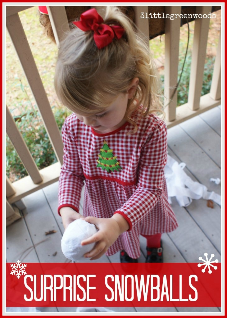 Searching for inexpensive DIY Christmas gifts for kids on your shopping lists? Then you are going to love these Surprise Snowballs! It's a simple Christmas craft made from Dollar Store supplies.