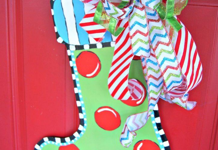 Christmas Stocking Door Hanger