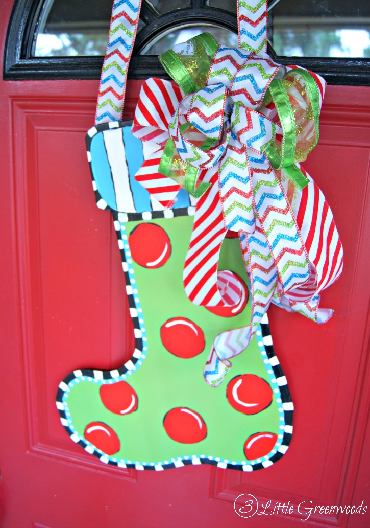 Christmas Stocking Door Hanger 3 Little Greenwoods