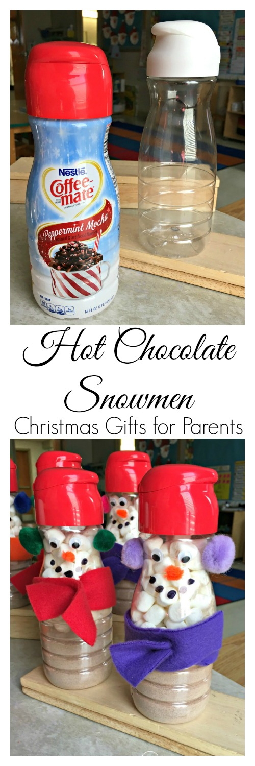 coffee creamer snowmen are the perfect christmas gifts for parents from their children teachers are