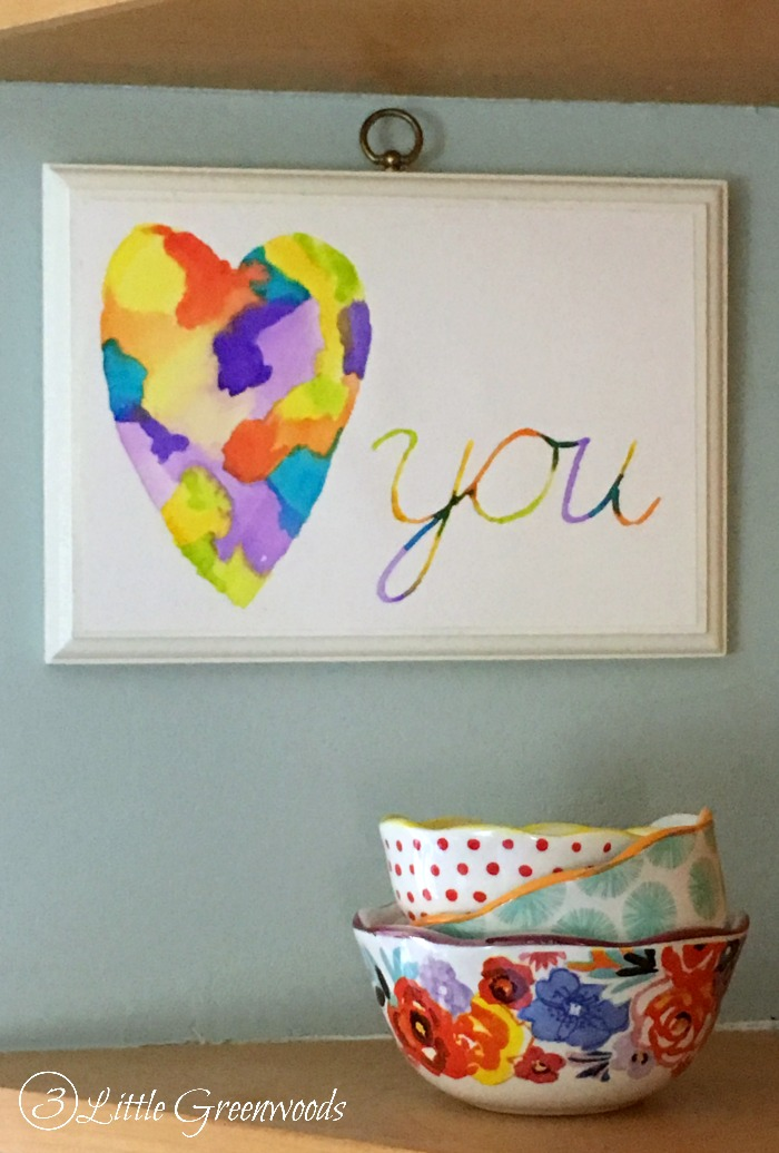 DIY Valentine Decor || Valentine's Day Gift || Watercolor Art