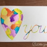 DIY Valentine Decor ~ Watercolor Heart Artwork