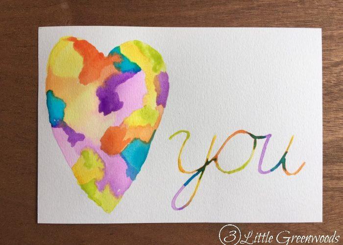 DIY Valentine Decor ~ Watercolor Heart Artwork